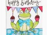 Frog Birthday Cards Free Frog Handmade Childrens Birthday Card 2 60 A Great