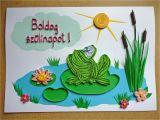 Frog Birthday Cards Free Papirvilag Bekas Udvozlet Birthday Card with Frog