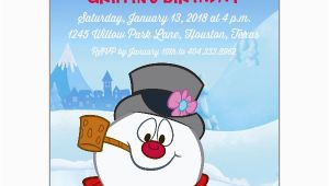 Frosty the Snowman Birthday Invitations Frosty the Snowman Invitations Paperstyle