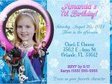 Frozen themed Birthday Invitation Cards 11 Frozen Invitation Template Free Sample Example