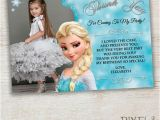 Frozen themed Birthday Invitation Cards Frozen Thank You Card Frozen Birthday Party by