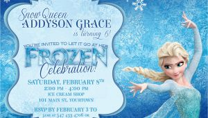 Frozen themed Birthday Invitations Frozen themed Party Invitations Printable Pdfs Elsa and Anna