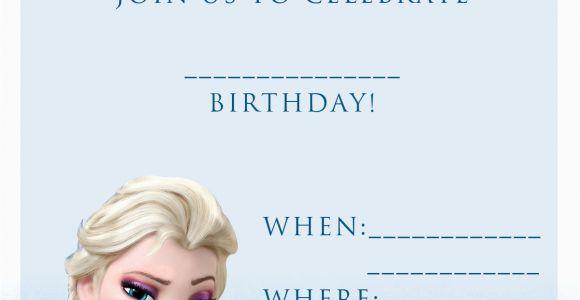 Frozen themed Birthday Party Invitations 20 Frozen Birthday Party Ideas