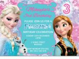 Frozen themed Birthday Party Invitations Cu1156 Frozen Birthday Invitation Template Girls