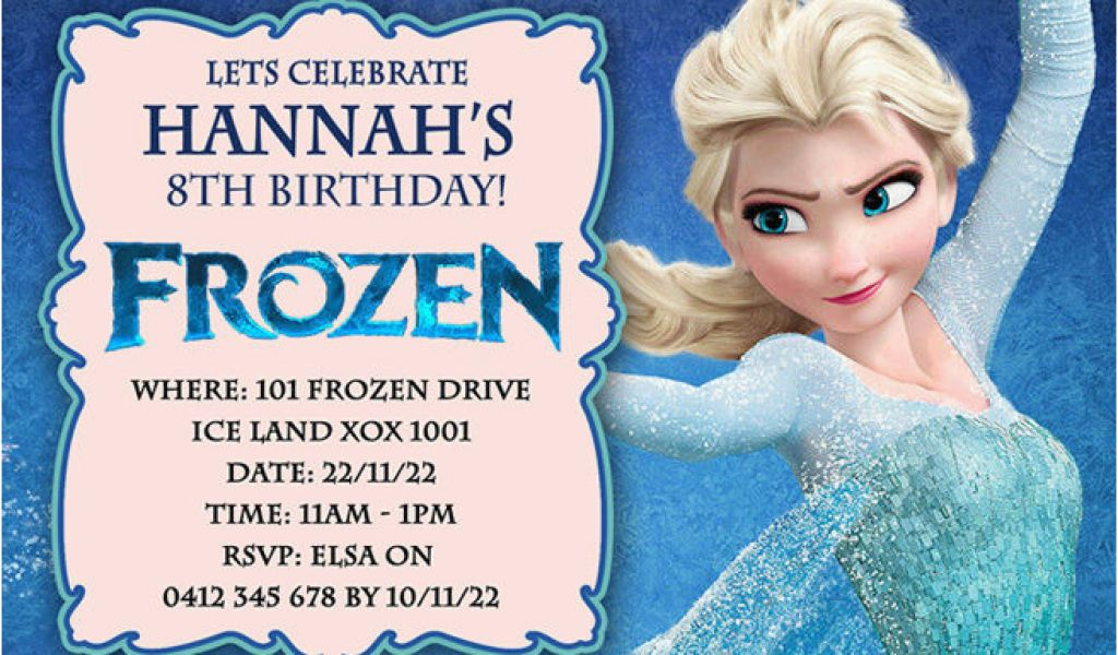 Download By SizeHandphone Tablet Desktop Original Size Back To Frozen Themed Birthday Party Invitations