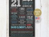Fun 21st Birthday Gifts for Him Fun Facts 1997 21st Birthday Gift for Him Brother son