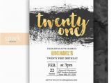 Fun 21st Birthday Ideas for Him Modern 21st Birthday Invitation for Men with Gold by