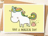 Fun Birthday Cards to Make Unicorn Card Funny Birthday Card Unicorn Birthday Card