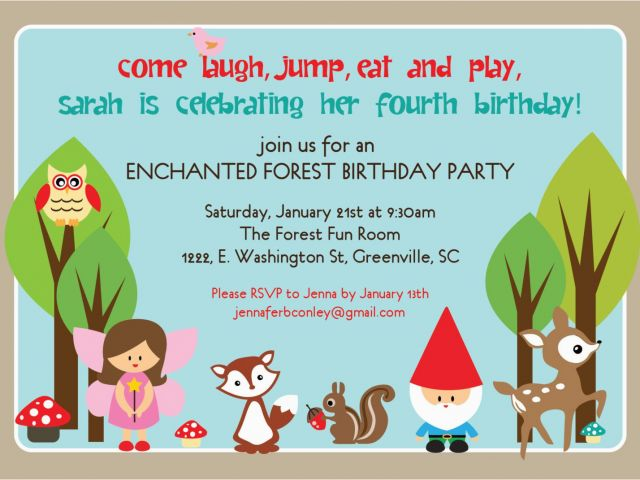 Fun Birthday Party Invitation Wording Kids