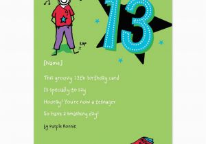 Funny 13th Birthday Cards 13th Birthday Quotes for son Quotesgram