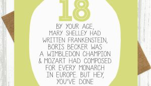 Funny 18th Birthday Card Messages by Your Age Funny 18th Birthday Card by Paper Plane