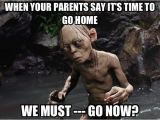 Funny 18th Birthday Memes We Must Go now Smeagol Lord Of the Rings Gollum