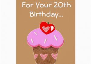 Funny 20th Birthday Cards Chocolate Cupcake Zazzle