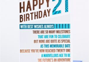 Funny 21 Year Old Birthday Cards 21st Card Happy Only 89p