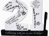 Funny 21st Birthday Gifts for Her Happy 21st Birthday Wooden Signature Number