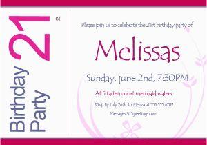 Funny 21st Birthday Invitation Wording Invitations 365greetings Com