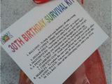 Funny 30th Birthday Gifts for Her 30th Birthday Survival Kit Fun Unusual Novelty Present