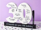Funny 30th Birthday Ideas for Him 30th Birthday Signature Numbers and Pen Find Me A Gift