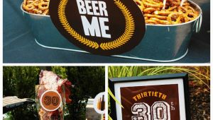 Funny 30th Birthday Ideas for Him Epic Dirty Thirty Birthday Beer Party B Lovely events