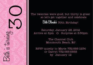 Funny 30th Birthday Invites 20 Interesting 30th Birthday Invitations