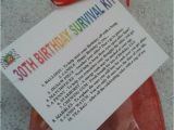 Funny 30th Birthday Party Ideas for Him 30th Birthday Survival Kit Fun Unusual Novelty Present