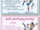 Funny 40th Birthday Party Invitations 18th 21st 30th 40th 50th 60th Personalised Funny Birthday