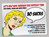 Funny 40th Birthday Party Invitations 30 Sucks Birthday Party Invitation Retro Pulp Woman Funny