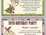 Funny 40th Birthday Party Invitations 30th 40th 50th 60th 70th 80th Personalised Funny Birthday