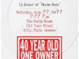 Funny 40th Birthday Party Invitations 7 Funny Invitation Card Designs
