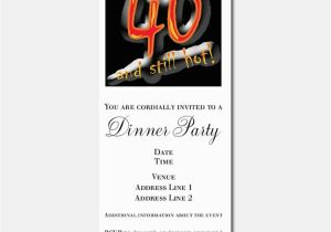 Funny 40th Birthday Party Invitations For