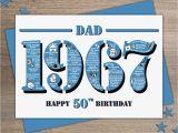 Funny 50th Birthday Cards for Dad Happy 50th Birthday Dad Card Card Design Ideas