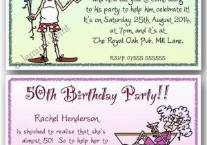 Funny 50th Birthday Invitation Wording Ideas 40th 60th 70th 80th 90th Personalised Party