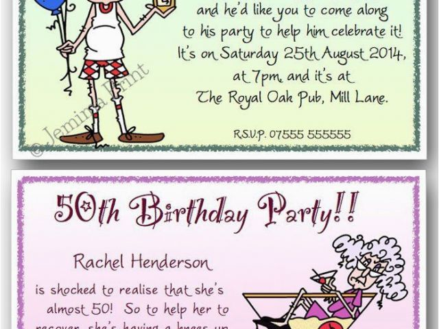 Download By SizeHandphone Tablet Desktop Original Size Back To Funny 50th Birthday Invitation
