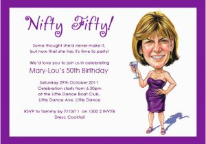 Funny 50th Birthday Invitation Wording Ideas Invitations For Women Dolanpedia