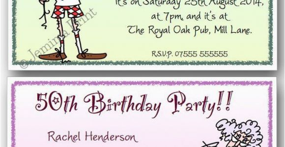 Funny 60th Birthday Party Invitations 40th 50th 70th 80th 90th Personalised