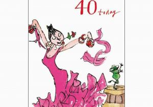 Funny 70th Birthday Cards Female Card Quentin Blake Age 40 Same Day