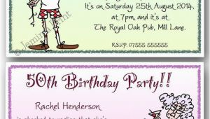 Funny 70th Birthday Invitations 40th 50th 60th 70th 80th 90th Personalised Funny Birthday