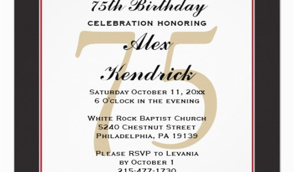 Download By SizeHandphone Tablet Desktop Original Size Back To Funny 75th Birthday Invitations