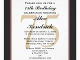Funny 75th Birthday Invitations 75th Birthday Invitation 5 25 Quot Square Invitation Card Zazzle