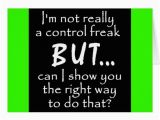 Funny Birthday Card Comments Funny Insults Control Freak Quotes Comments Black Greeting