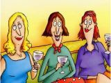 Funny Birthday Card Comments Women On Couch Funny Birthday Card Greeting Card by