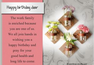 Funny Birthday Card Messages For Work Colleagues Colleague Wordings And