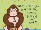 Funny Birthday Card Sayings for Kids Gorilla Funny Joke Birthday Card for Kids Tw434