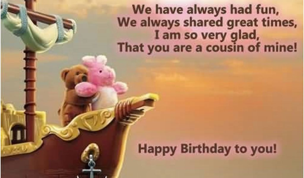 Funny Birthday Cards Cousin Birthday Wishes For Cousin Sister Quotes