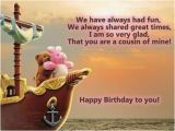 Funny Birthday Cards Cousin Birthday Wishes for Cousin Sister Quotes and Messages