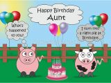Funny Birthday Cards Cousin Quot Funny Animals Aunt Birthday Hilarious Rudy Pig Moody