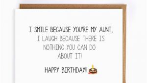 Funny Birthday Cards for Aunts Funny Happy Birthday Card for Aunt Blank Greeting Cards Cute