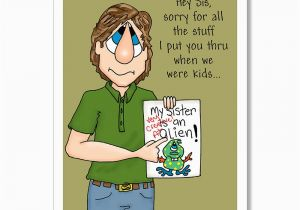 Funny Birthday Cards For Brother From Sister Wishes Younger