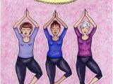Funny Birthday Cards for Ladies Posing Yoga Women Funny Birthday Card Greeting Card by