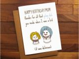 Funny Birthday Cards for Moms Funny Birthday Card for Mother Funny Play Doh Card Funny